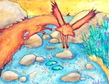 Fox Near lake