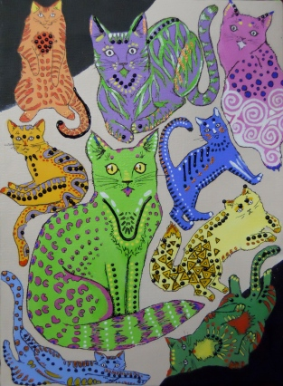 Psychadelic Cats